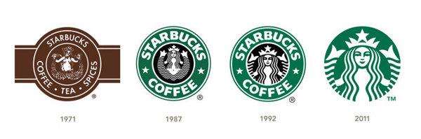 Starbucks rebranding over the years