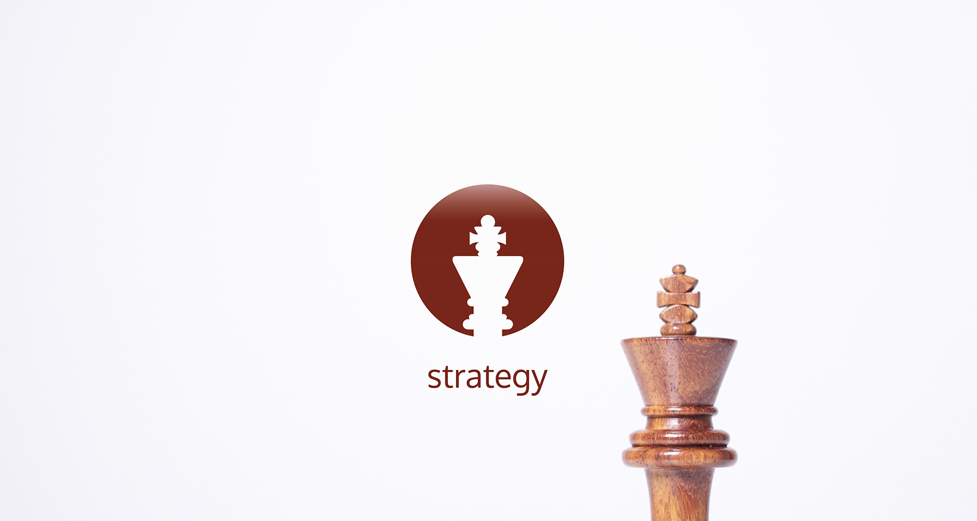 Fortified strategy icon and king chess piece