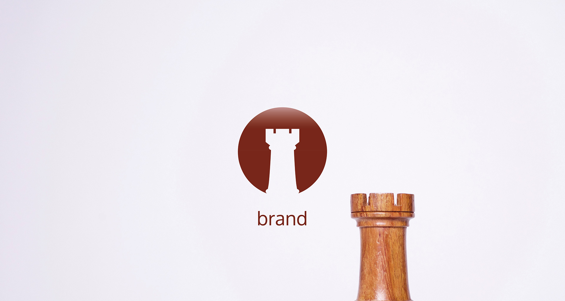 Brand icon and tower chess piece