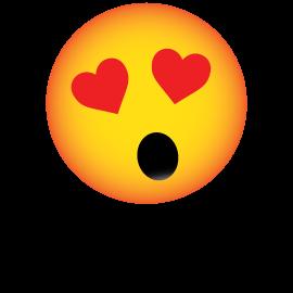 Bonhomme surpris avec coeur icon