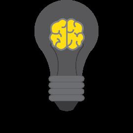 Ampule avec cerveau icon