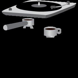 Vinyl et café icons
