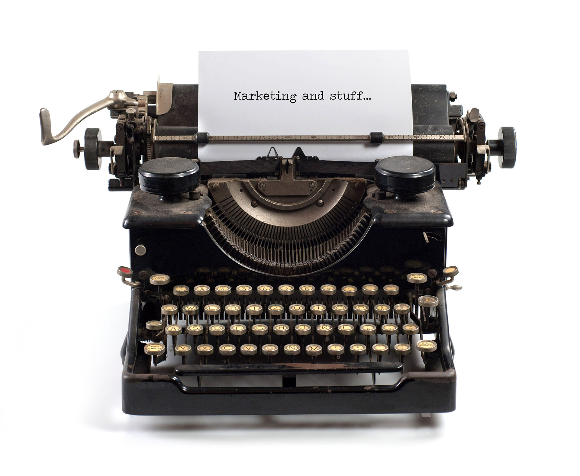 Fortified Marketing blog typewriter