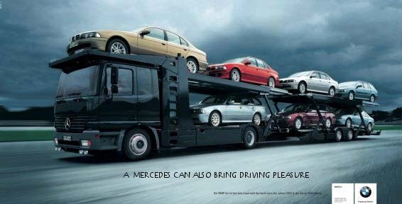 ad wars Mercedes and BMW