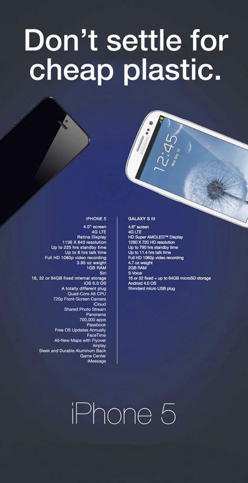 ad wars Samsung and Apple