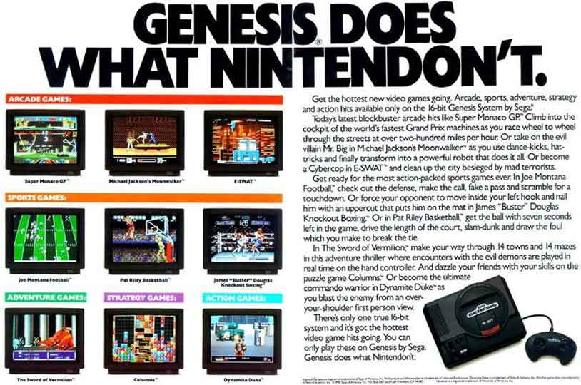 ad wars Genesis and Super Nintendo