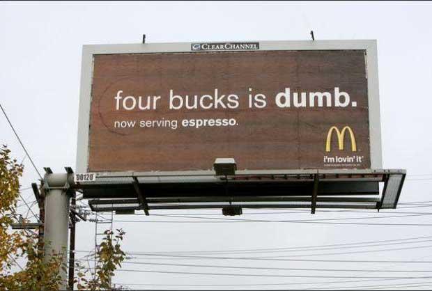 ad Wars McDonald's billboard