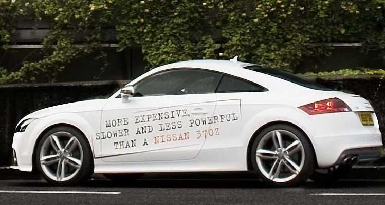 ad wars, Nissan ad
