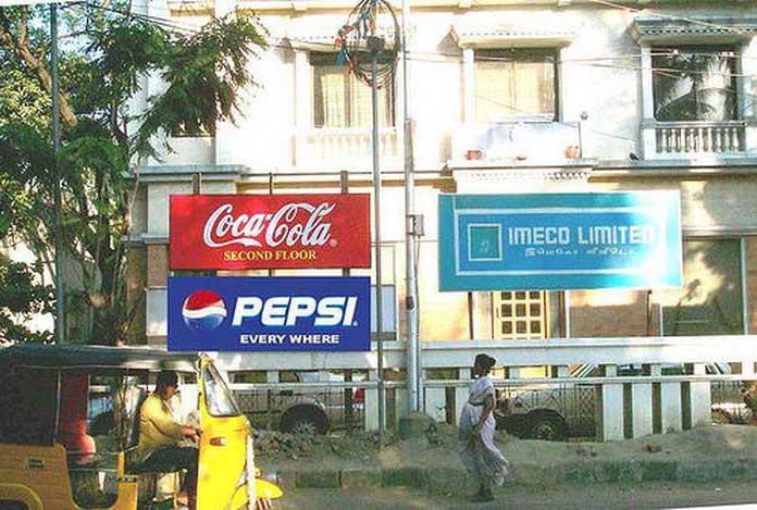 ad wars Coke and Pepsi billboards