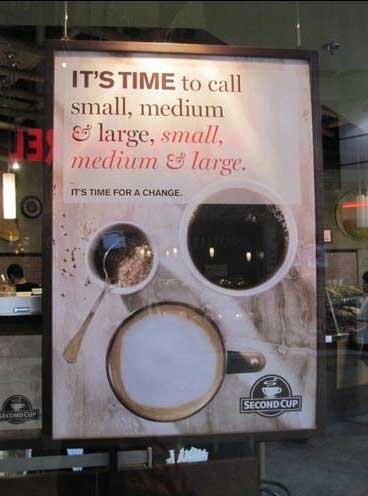 ad wars Second Cup ad