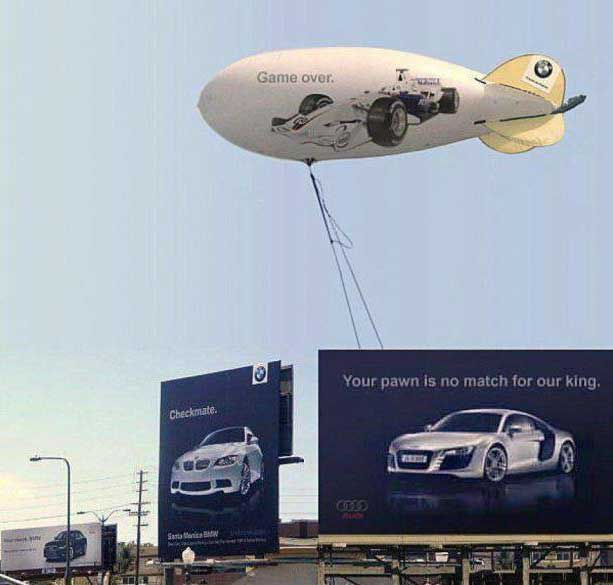 ad wars Audi and BMW