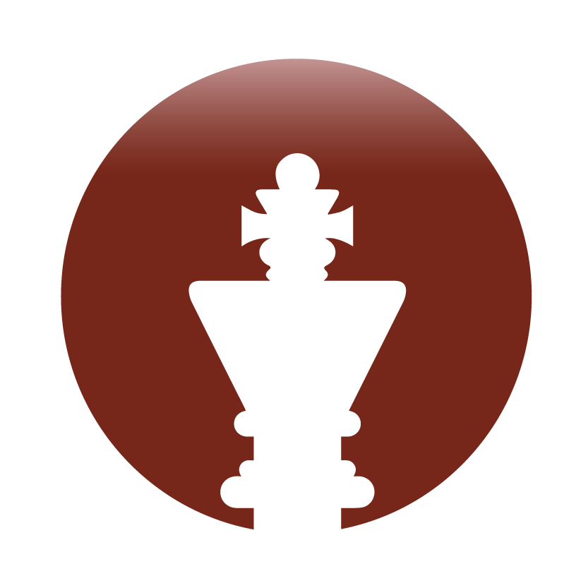Strategy king chess icon