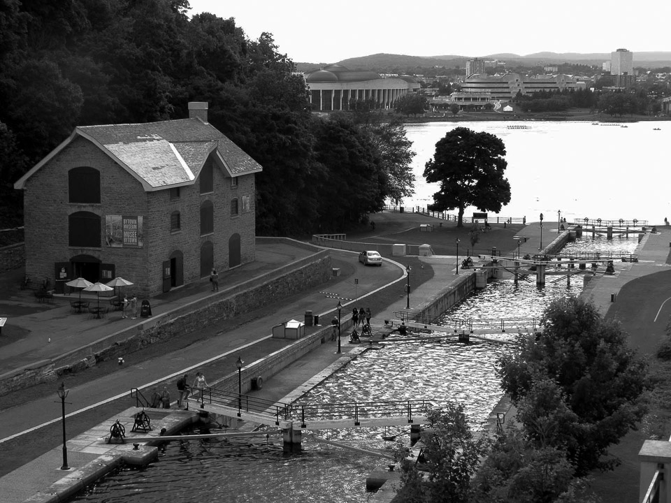 Bytown Museum and Rideau Canal Locks in Ottawa